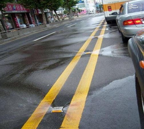 عکس/ ابتکار جالب برای شستشوی خودکار خیابانها