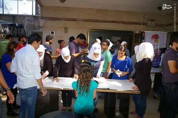 حمایت دانشجویان سوری از رزمندگان ارتش سوریه+تصاویر