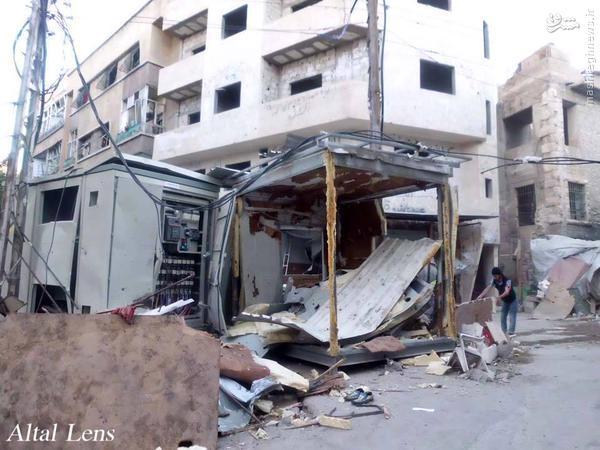 انفجار خودروی بمبگذاری شده در شمال دمشق+تصاویر