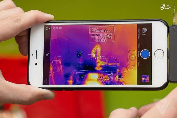 تبدیل گوشی هوشمند به دوربین حرارتی با Flir One