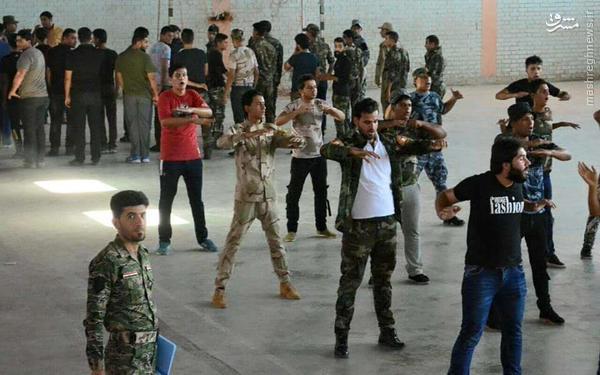 آموزش نظامی دانشجویان عراقی از سوی حشد الشعبی+تصاویر