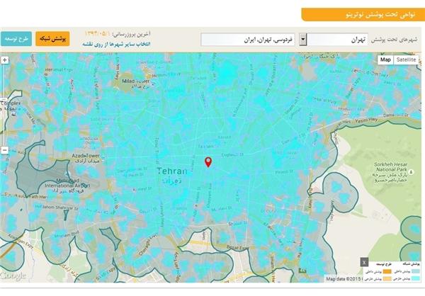 نقشه دقیق محل نصب آنتنهای 3G و 4G فراهم شد