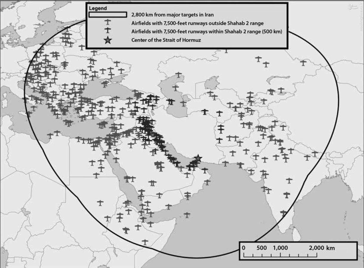 آینده موشکهای بالیستیک ایران برای پایگاههای هوایی آمریکا تهدید است