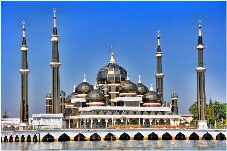 مسجد کریستالی در مالزی+ عکس
