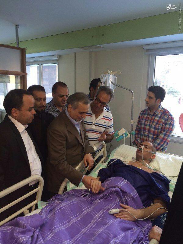 عکس/ عیادت برادر رئیس جمهور از کوه عضله ایران
