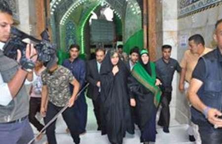 شیرزن سنیعراق به زیارت امامحسین(ع) رفت+عکس