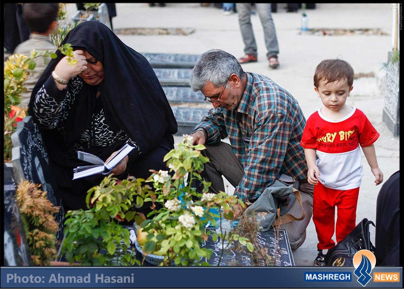 تصاویر/ شب جمعه در بهشت رضا
