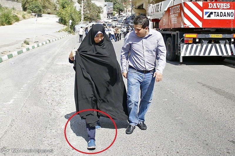 کفشهای ستشده مهدی و فاطمههاشمی در اوین+عکس