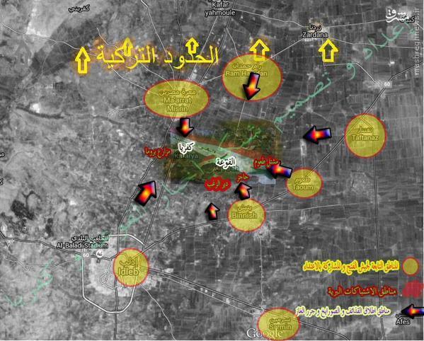 کربلای فوعه و کفریا/ استفاده تروریستهای اردوغان از گاز کلر علیه شیعیان سوری/آغاز عملیات نظامی لهیب داریا در غوطه غربی دمشق/ پیشروی های جدید داعش در ریف شرقی حمص