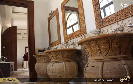 رونمایی داعش از قصر همسر امیر سابق قطر در تدمر+تصاویر
