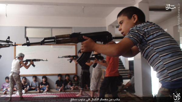 سرباز گیری داعش از کودکان جنوب دمشق+تصاویر