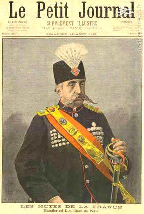 عکس شاه قاجار روی مجله فرانسوی