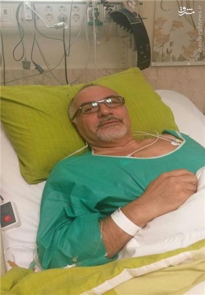 حاجیلو در بیمارستان بستری شد + عکس