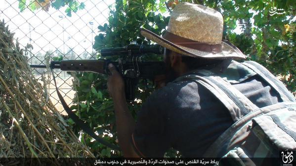 تک تیراندازان داعش در جنوب دمشق+تصاویر