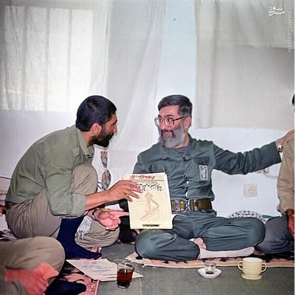 عکس کمتر دیدهشده رهبر انقلاب در لباس سپاه