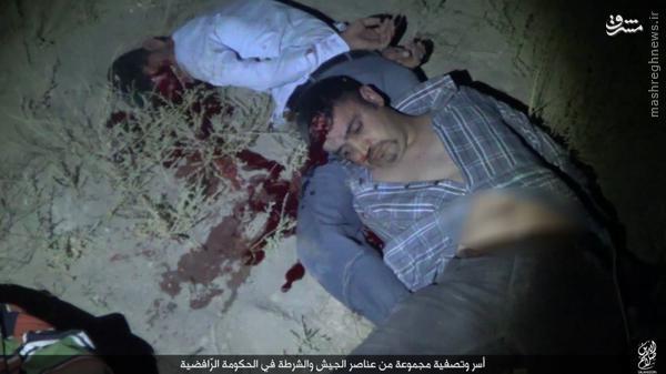 اعدام اسرای ارتش عراق توسط داعش در صلاح الدین+تصاویر