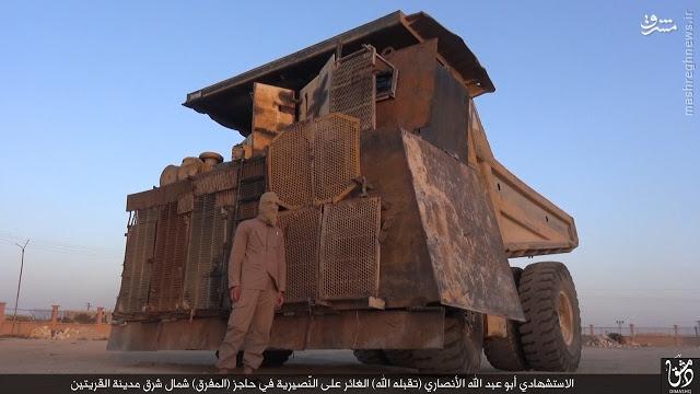 عکس/ بمب متحرک هشت تنی داعش