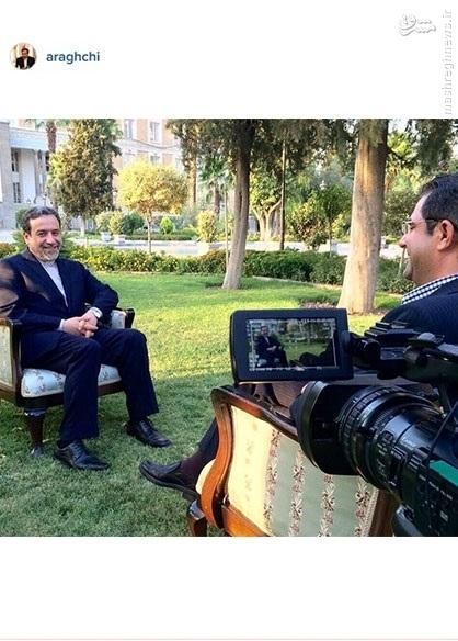عکس/پشت صحنه مصاحبه عراقچی با العالم