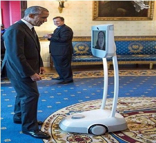 رباتی که با اوباما دیدار کرد +عکس