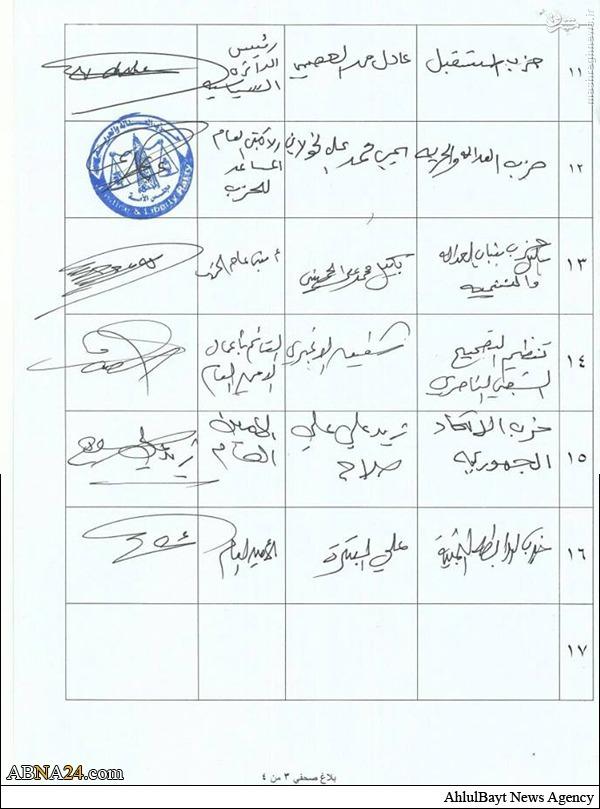 حمایت قاطع احزاب سیاسی یمن از رهبر انصارالله +سند