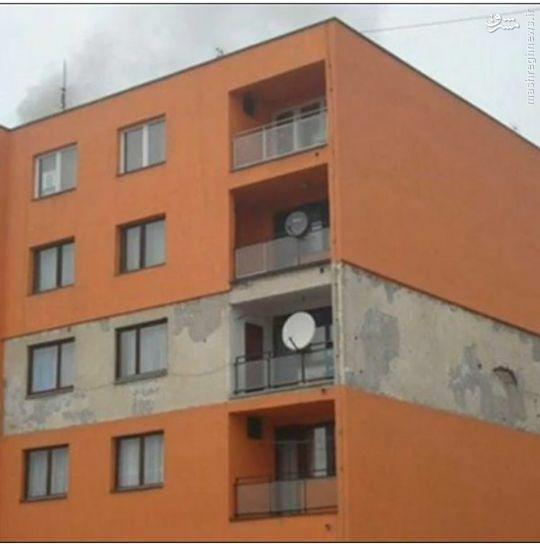 عکس/ نمای عجیب یک ساختمان