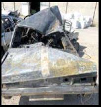 تصادف و آتشسوزی خودرو نوعروس را سیاهبخت کردمرگ دلخراش نوعروس در میان شعلههای خودرو