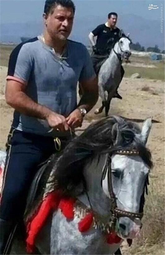 عکس/ علی دایی در حال اسب سواری