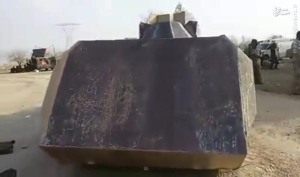 خودروی انتحاری زرهی عجیب داعش در سامراء+تصاویر