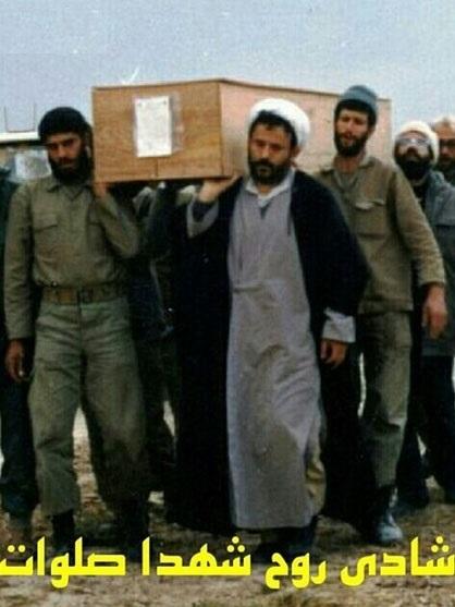 شهیدی که شیخ حسین انصاریان زیر تابوتش رفت + عکس