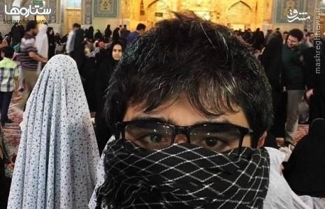 عکس/ استتار یک بازیگر در حرم امام رضا(ع)