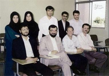محسن رضایی با همکلاسی های دوره دکترا+عکس