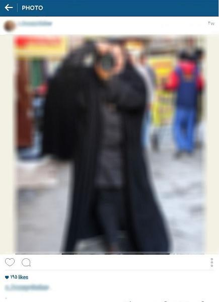 الکی مثلا من چادریام +عکس
