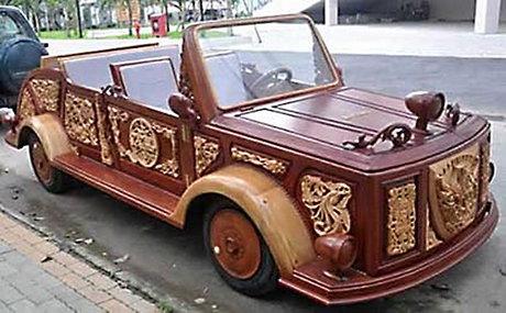 ابتکار ایرانی، ماشین عروس چوبی +عکس
