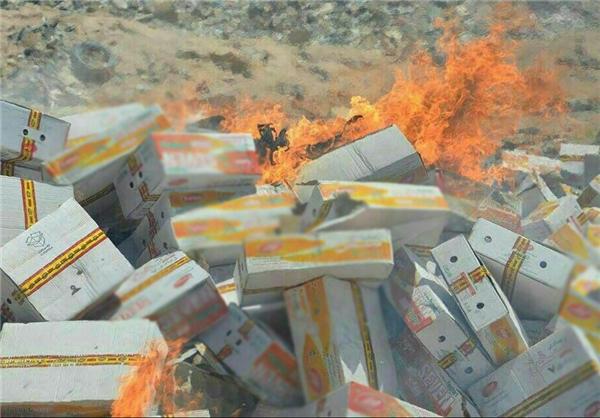 ماجرای آتش زدن محصول یک شرکت لبنیاتی+تصاویر