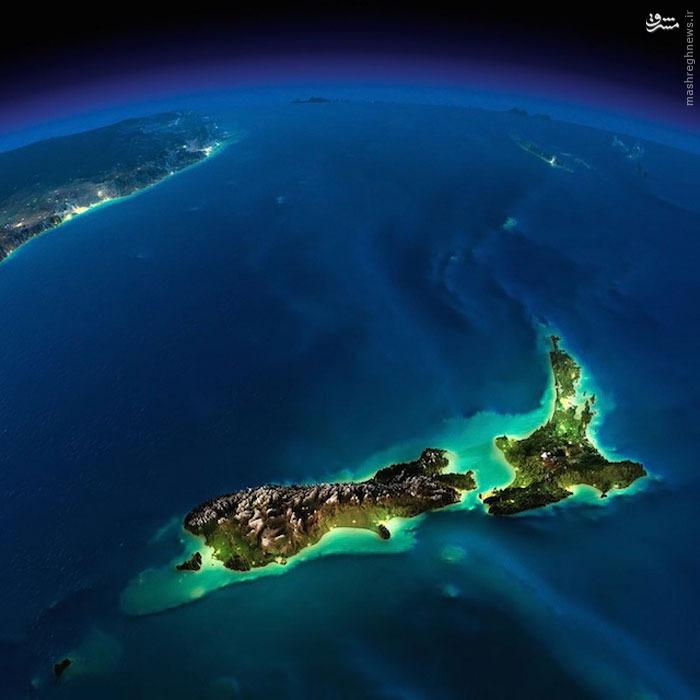 عکس ناسا از شب زمین