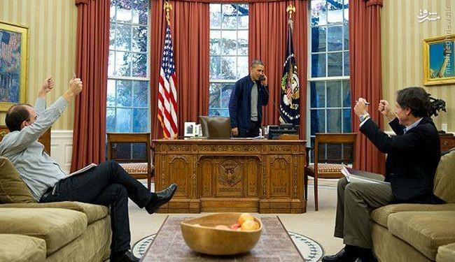 عکس/ شادی اوباما از رأی مجلس سنا