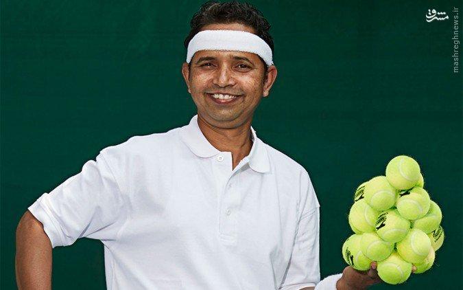 ماهادئو بوجبال؛ توانایی حمل تعداد زیادی توپ تنیس در یک دست