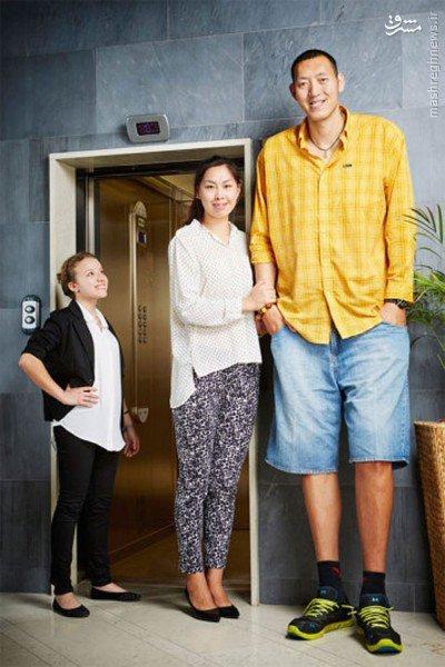 بلند قدترین زوج جوان(اکس یو یان و سان مینگ مینگ)