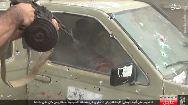 کمین داعش علیه خودروی ارتش عراق+تصاویر