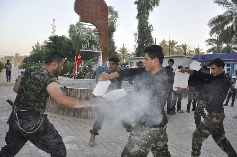 مانور بسیج مردمی عراق در کربلاء+تصاویر