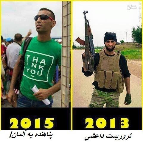 تروریست القاعده در میان پناهجویان سوری+تصاویر
