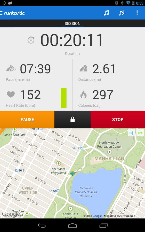 نرمافزار پیادهروی و اندازهگیری کالری Runtastic +دانلود