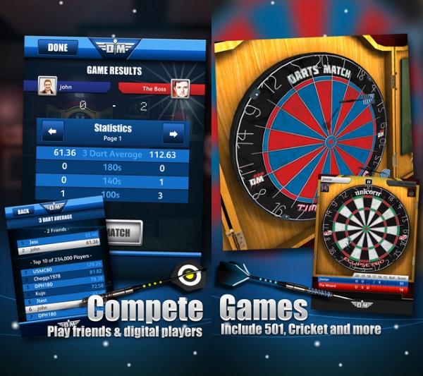 مسابقات دارت حرفه ای در بازی Darts Match + دانلود