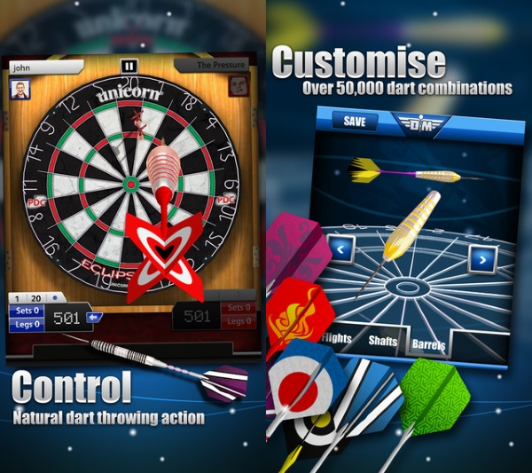 مسابقات دارت حرفه ای در بازی Darts Match
