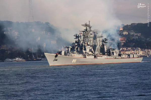 ناوگان جنگی روسیه در راه سوریه+تصاویر