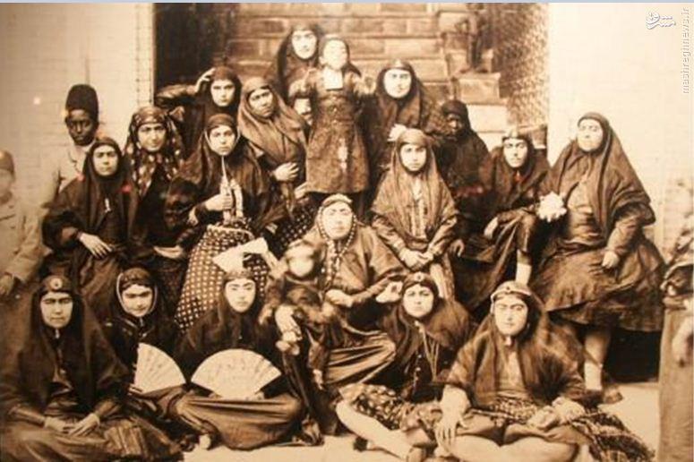 حرمسرای قاجار چگونه پر از زن می شد؟ + عکس زنان حرمسرا