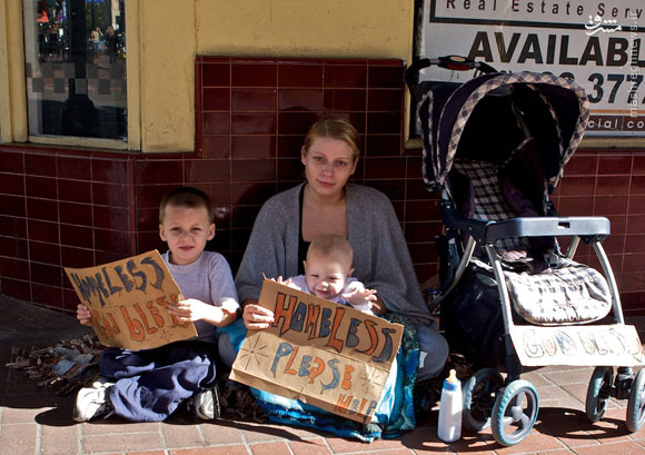 نیم میلیون کودک بیخانمان در ثروتمندترین ایالت آمریکا