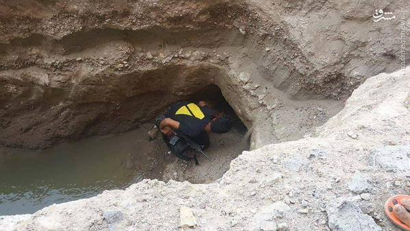 کشف تونل داعش در حاشیه فلوجه+تصاویر