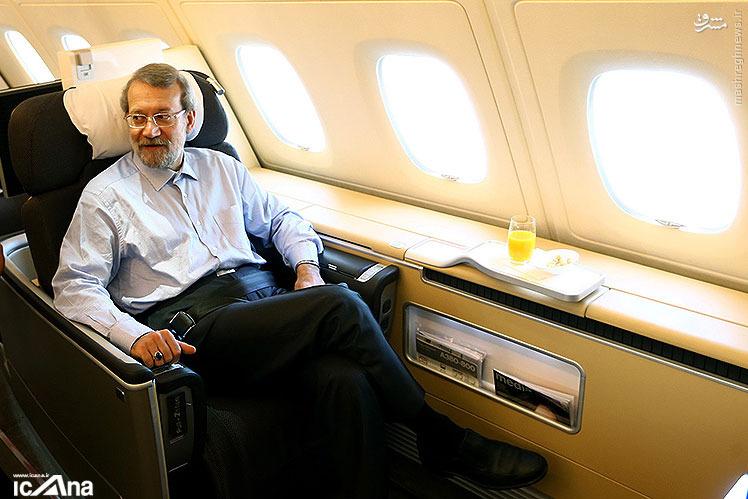 عکس/ صندلی VIP علی لاریجانی در پرواز نیویورک