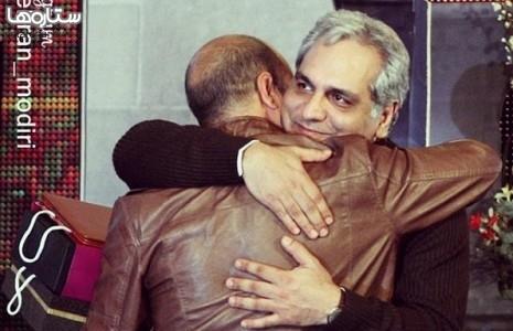 عکس/ مهران مدیری در آغوش سعید آقاخانی